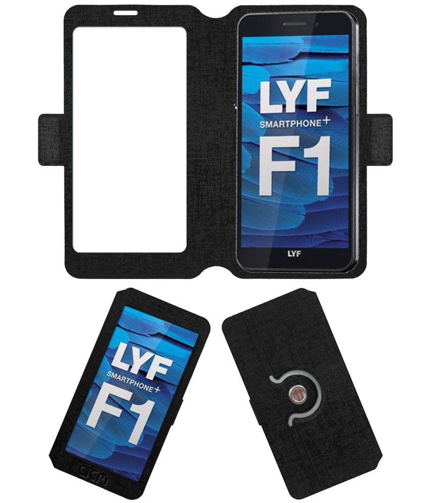 Lyf Water F1 Flip Cover by ACM - Black