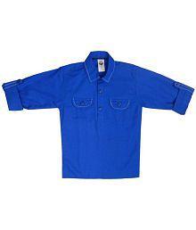 Kooka Kids Boys Full Sleeves Plain Cotton Kurta
