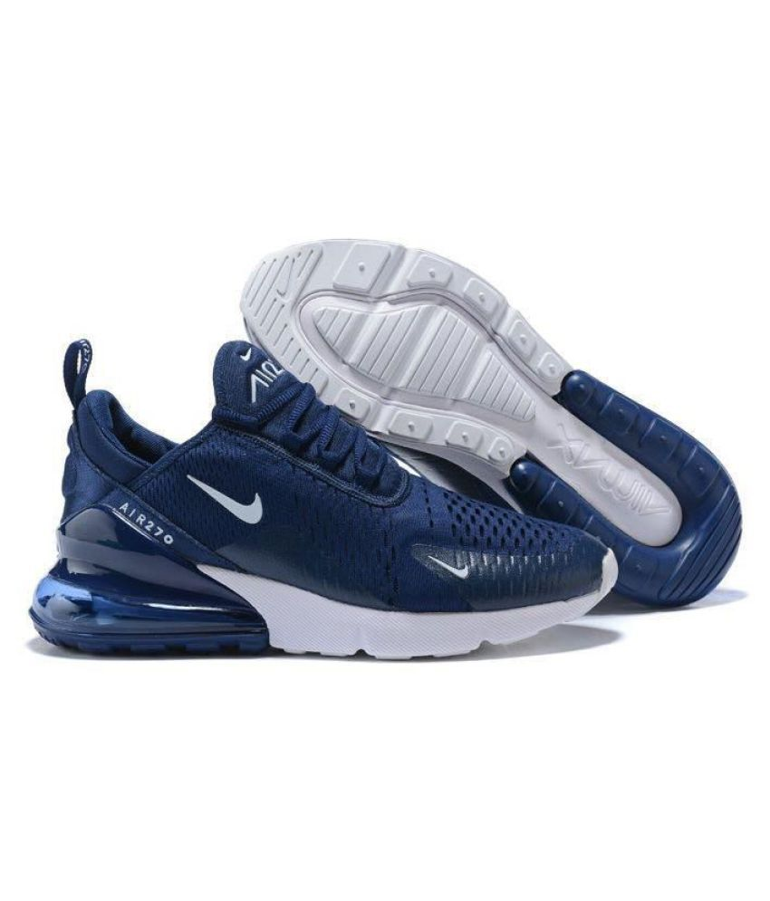new styles 9d17d 64088 Nike Air Max 270 Navy Running Shoes