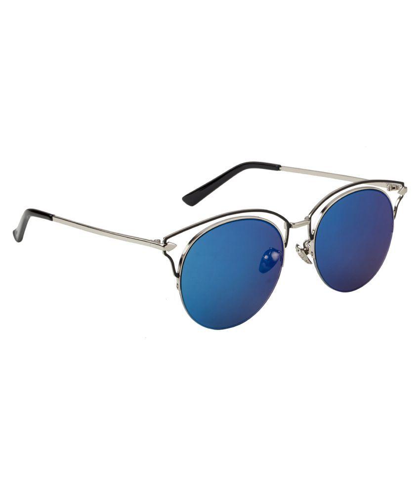 Jaaffi Blue Round Sunglasses ( 1012-J )