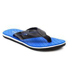 FUEL Men's & Boy's Blue Flip Flops Black Thong Flip Flop