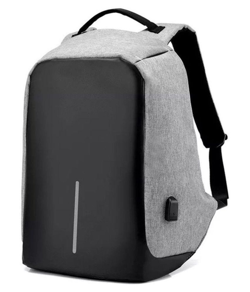74d3435585 Allextreme Anti theft with USB Port Grey Waterproof Business Backpack - Buy Allextreme  Anti theft with USB Port Grey Waterproof Business Backpack Online at ...
