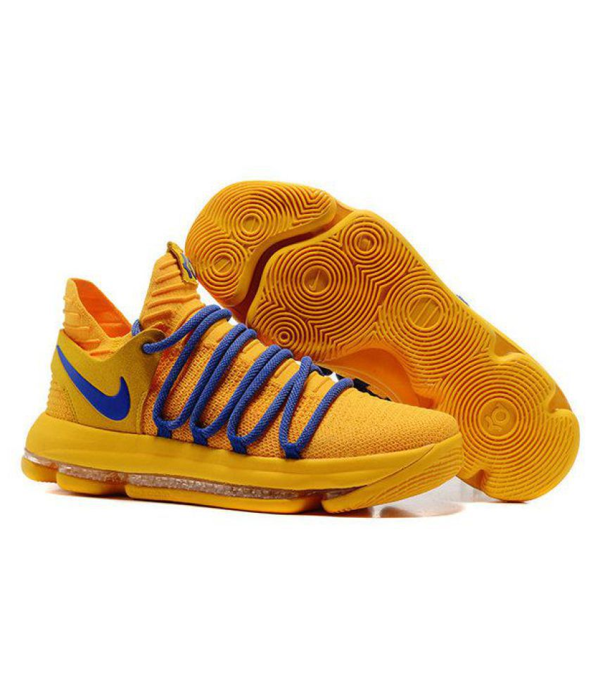 09d8d9a9c2b4 Nike KD 10 Yellow Basketball Shoes - Buy Nike KD 10 Yellow Basketball Shoes  Online at Best Prices in India on Snapdeal