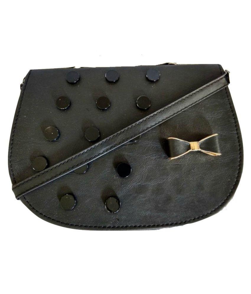 GiftingTree Black P.U. Sling Bag