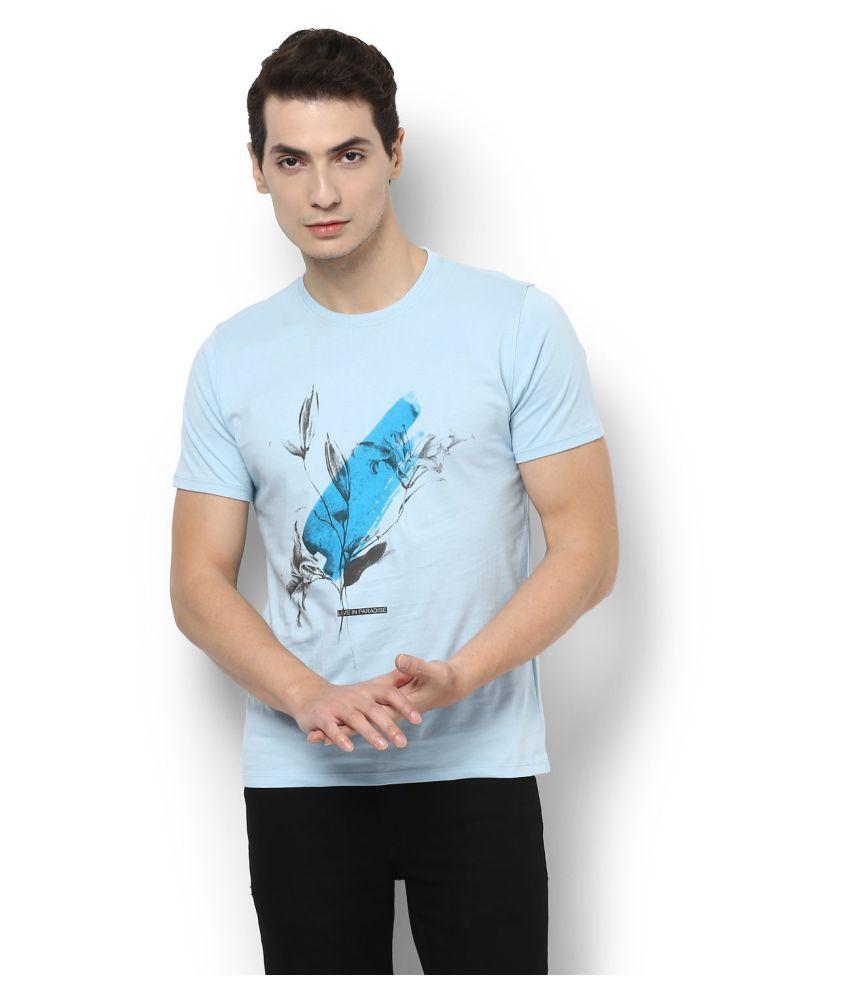 Van Heusen Blue Round T-Shirt
