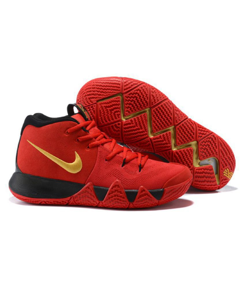 low priced 2f952 10120 Nike Kyrie 4 Blood Red Basketball Shoes