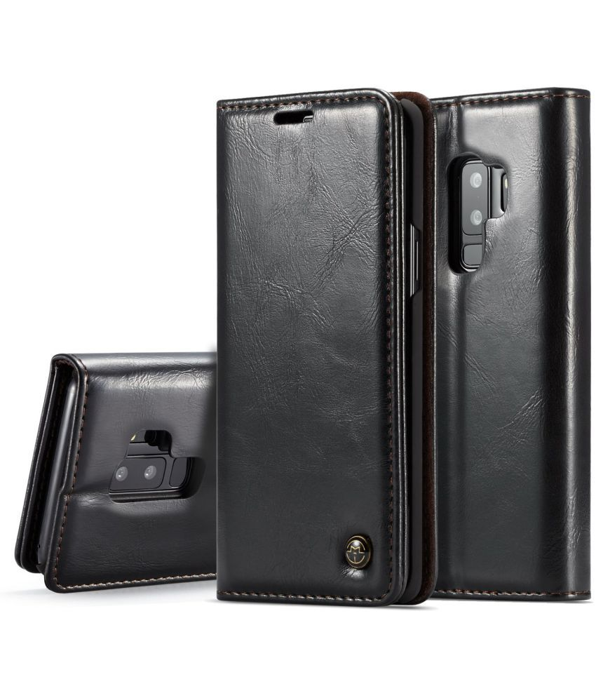 Samsung Galaxy S9 Plus Flip Cover by iMob - Black