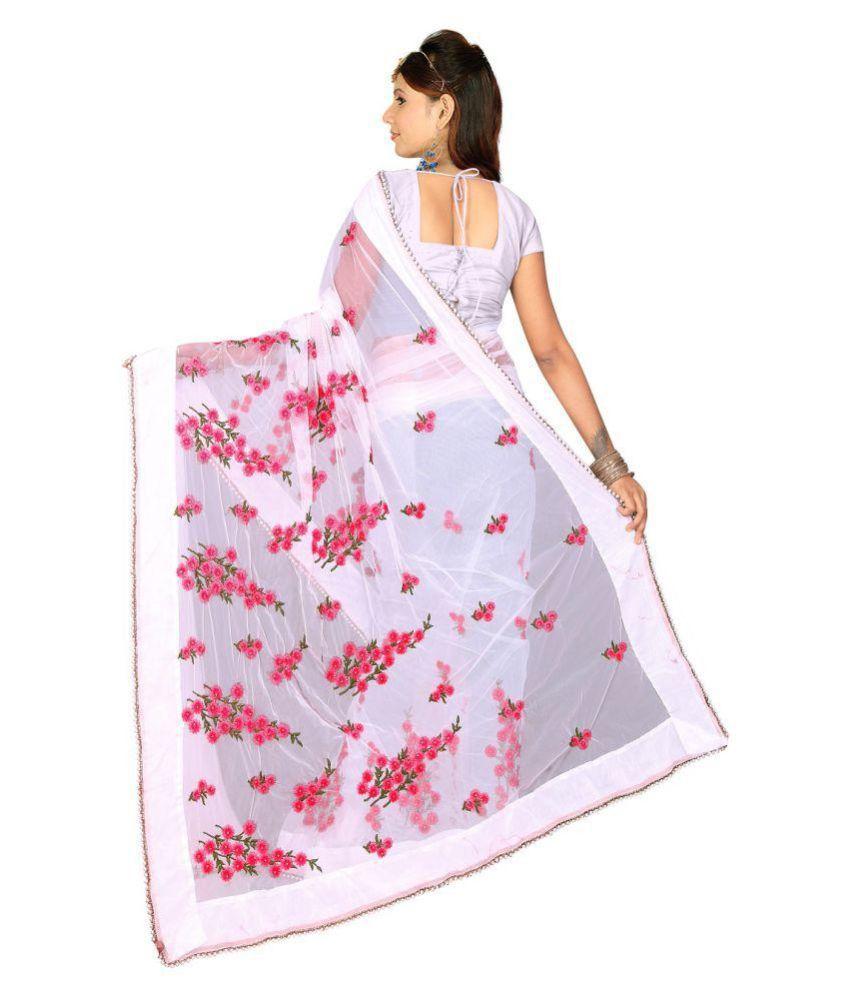 6ea919258f future india White and Grey Cotton Silk Saree - Buy future india ...