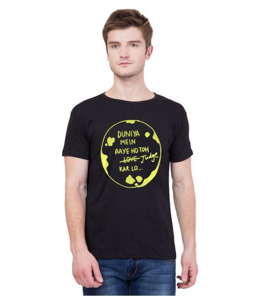 American-Elm Black Round T-Shirt Pack of 1