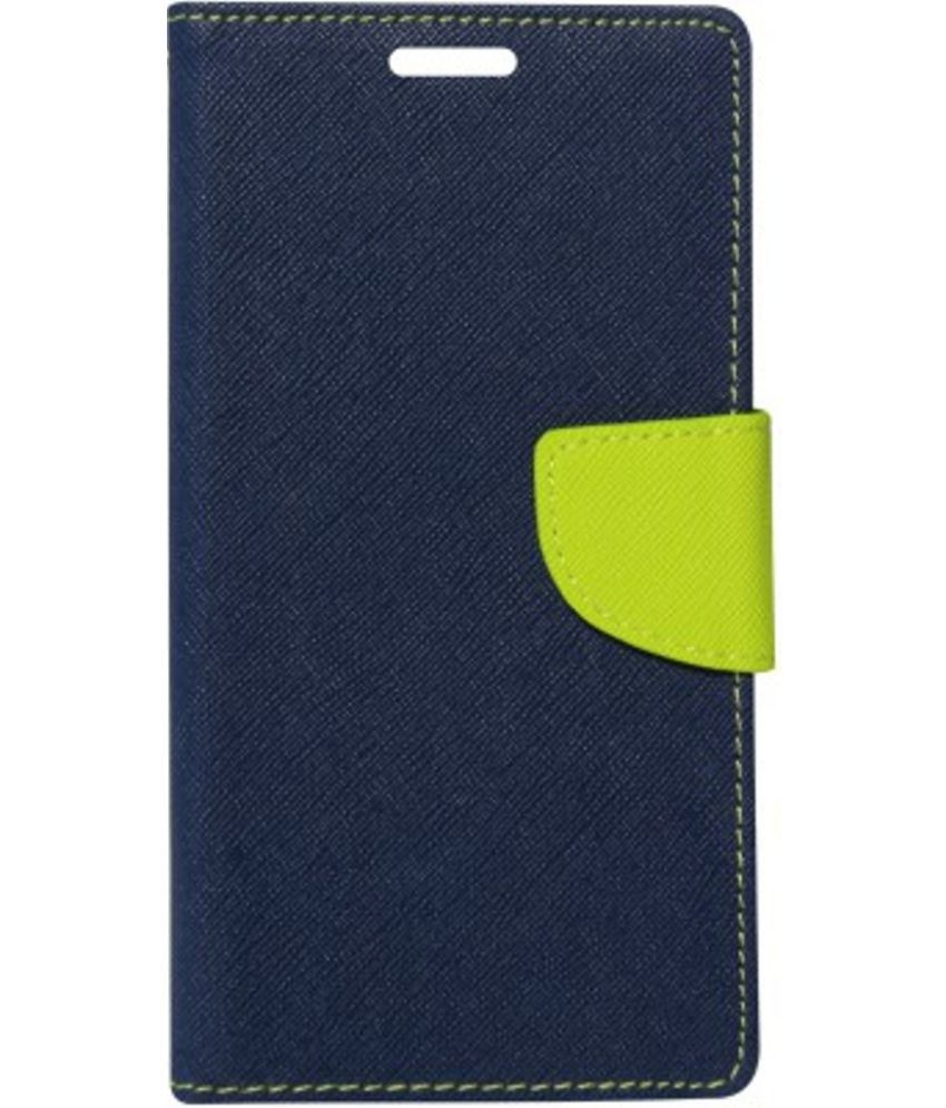 Lyf Wind 4 Flip Cover by Kosher Traders - Blue
