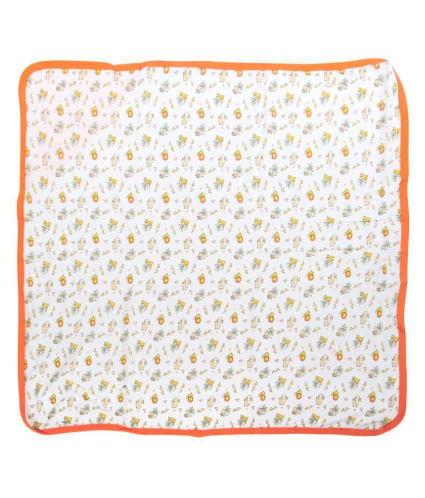 Mee Mee Multi-Colour Cotton Baby Wrap cum blanket ( 28 cm × 1 cm - 1 pcs)