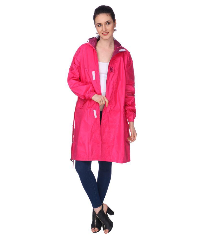 REAL Nylon Long Raincoat - Pink