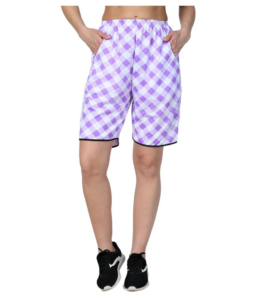 Affair Purple Shorts