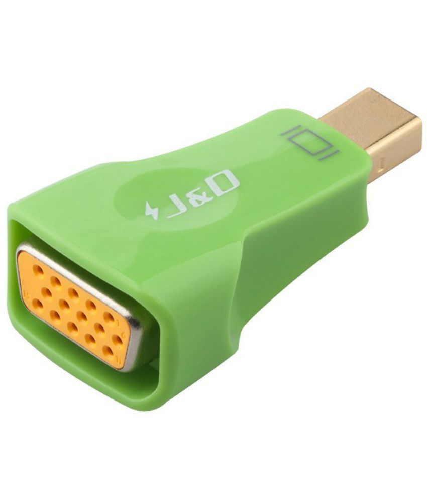 Thunderbolt to VGA Adapter Converter J/&D Gold Plated Mini DisplayPort