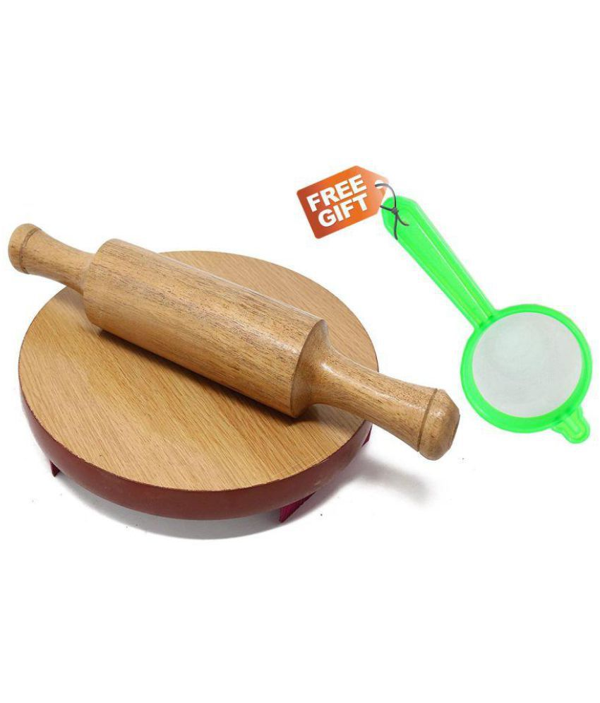 ADINATH EXPORTS Wooden Rolling Pin Combo 1 Pc