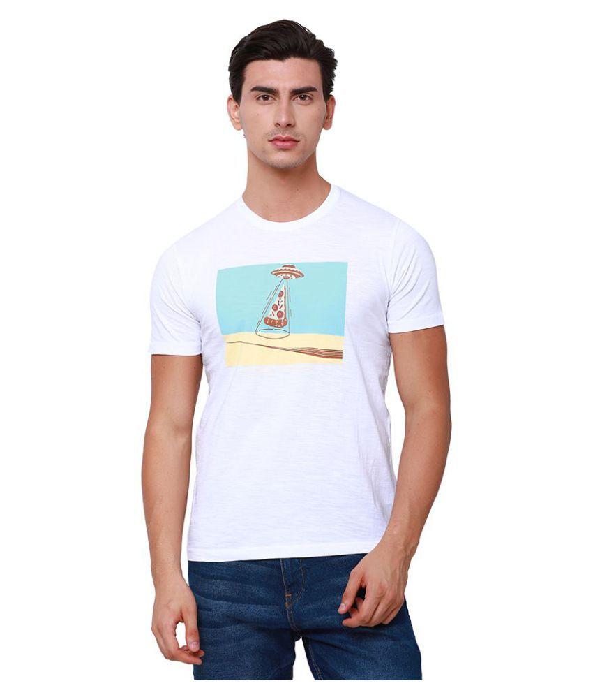 Locomotive White Round T-Shirt Pack of 1
