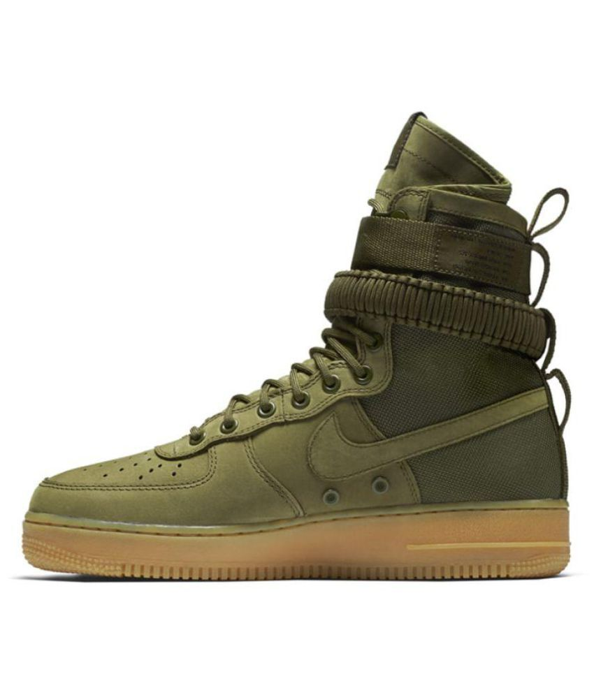 wholesale dealer f4779 083ad Nike Air Force SF 1 High Green Training Shoes - Buy Nike Air Force SF 1  High Green Training Shoes Online at Best Prices in India on Snapdeal