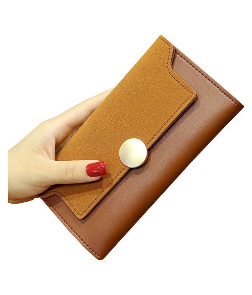 ZELP Brown Pure Leather Handheld