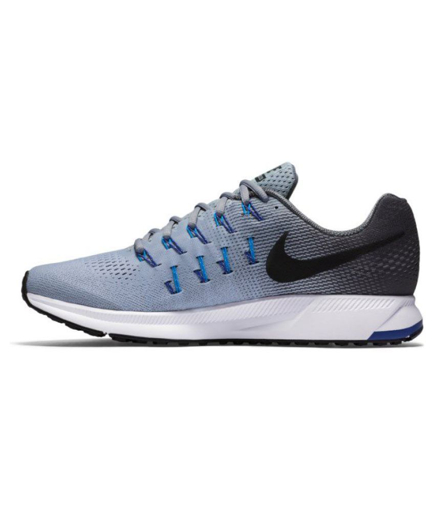 ffbd71fcf36617 Nike Air zoom 33 pegasus Gray Running Shoes - Buy Nike Air zoom 33 ...
