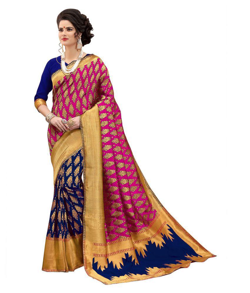 Pehnava Pink Banarasi Silk Saree