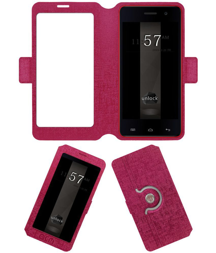timeless design f29ae c704b Micromax Unite 2 A106 Flip Cover by ACM - Pink