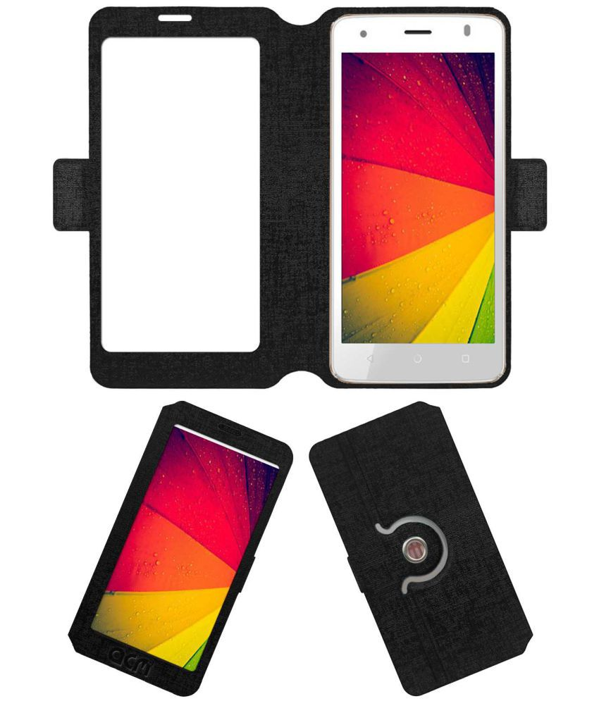 ZIOX ASTRA METAL 4G Flip Cover by ACM - Black