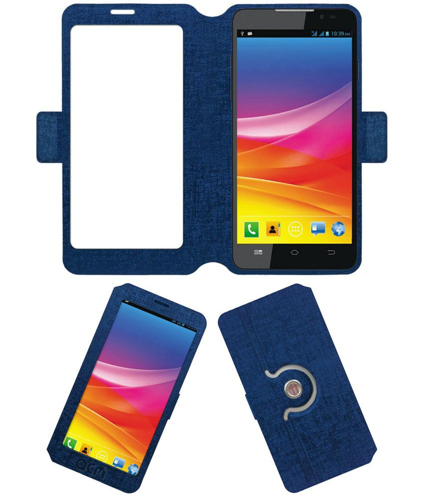 Micromax Canvas Nitro A310 Flip Cover by ACM - Blue