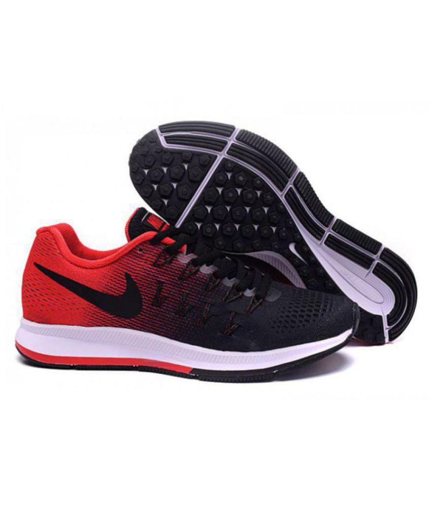 nike air pegasus 33 black red running shoes