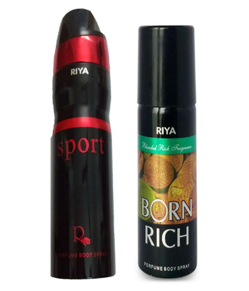 695d9522c54 BORN RICH PERFUME BODY SPRAY 150 ML + SPORT PERFUME BODY SPRAY 200 ML  Buy  Online at Best Prices in India - Snapdeal