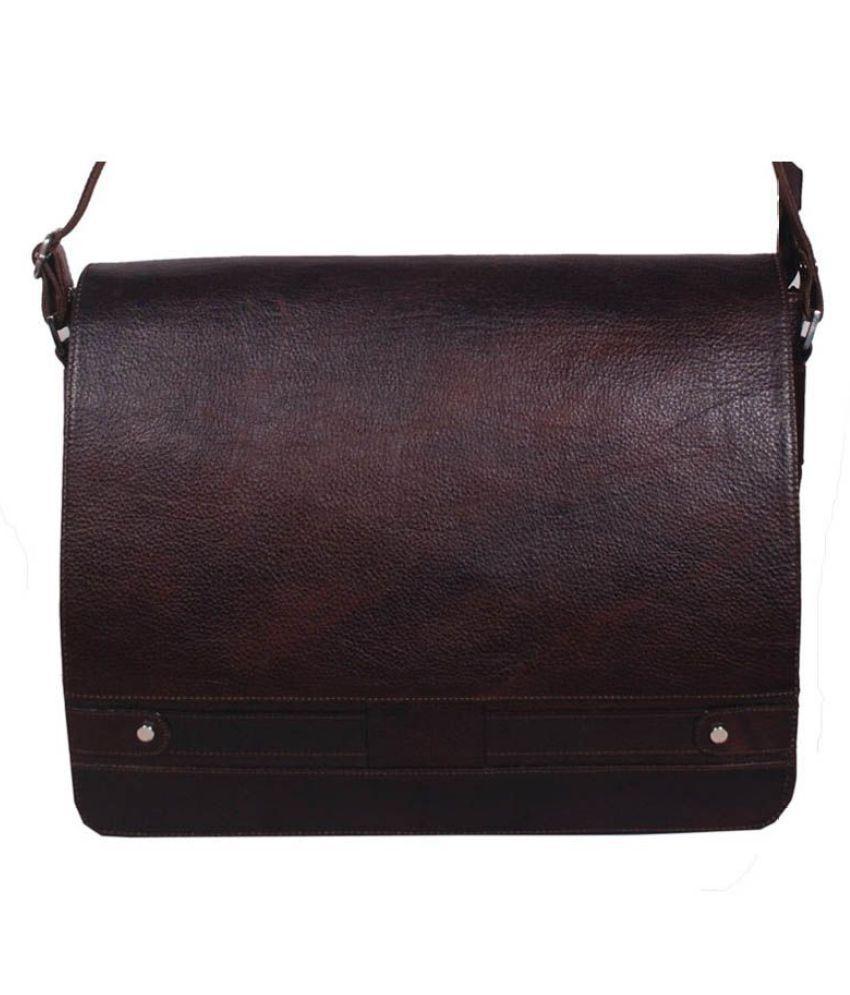 Bag Jack Octantis Brown Leather Office Messenger Bag