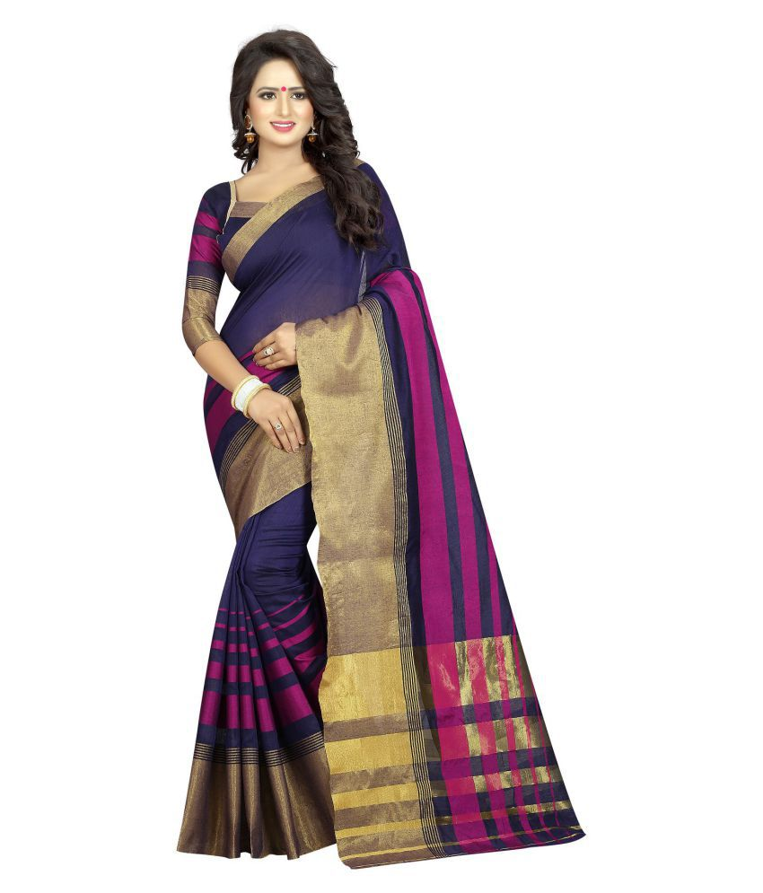 Everest Creation Multicoloured Cotton Silk Saree