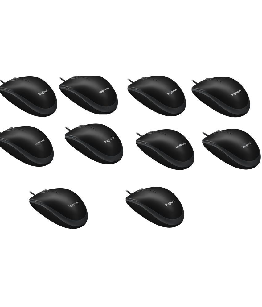 Logitech B100 Black USB Wired Mouse