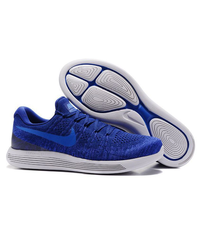 brand new c413b 0cfbc Nike LunarEpic Low Flyknit 2 Blue Running Shoes - Buy Nike LunarEpic Low Flyknit  2 Blue Running Shoes Online at Best Prices in India on Snapdeal