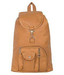 Bizarre Vogue Stylish College Bags Backpacks For Women & Girls (Mustard, BV927)