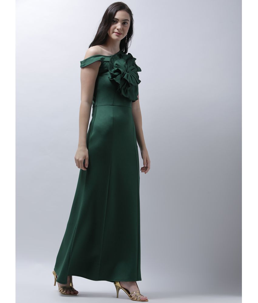Athena Polyester Green Fit And Flare Dress Buy Athena