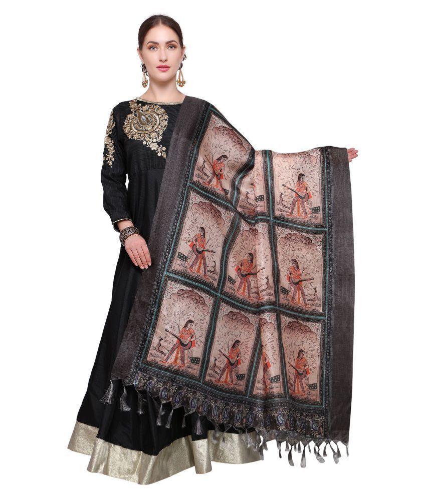 54cfcf89e3 Saree Mall Multicoloured Art Silk Digital Printed Dupatta Price in ...