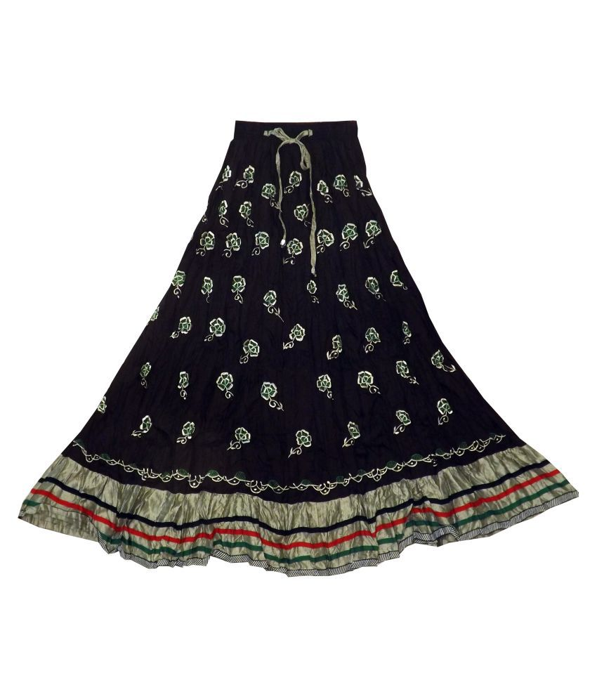 1068e57ae94c Buy Adiboo Silk Pleated Skirt - Blue Online at Best Prices in India -  Snapdeal