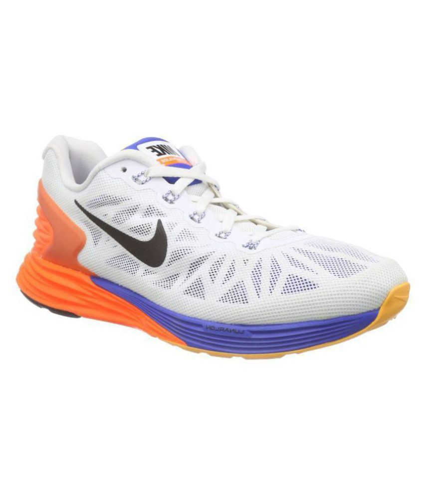 huge selection of d4fdf 3e8ed Nike Lunarglide 6 White Running Shoes - Buy Nike Lunarglide 6 White Running  Shoes Online at Best Prices in India on Snapdeal