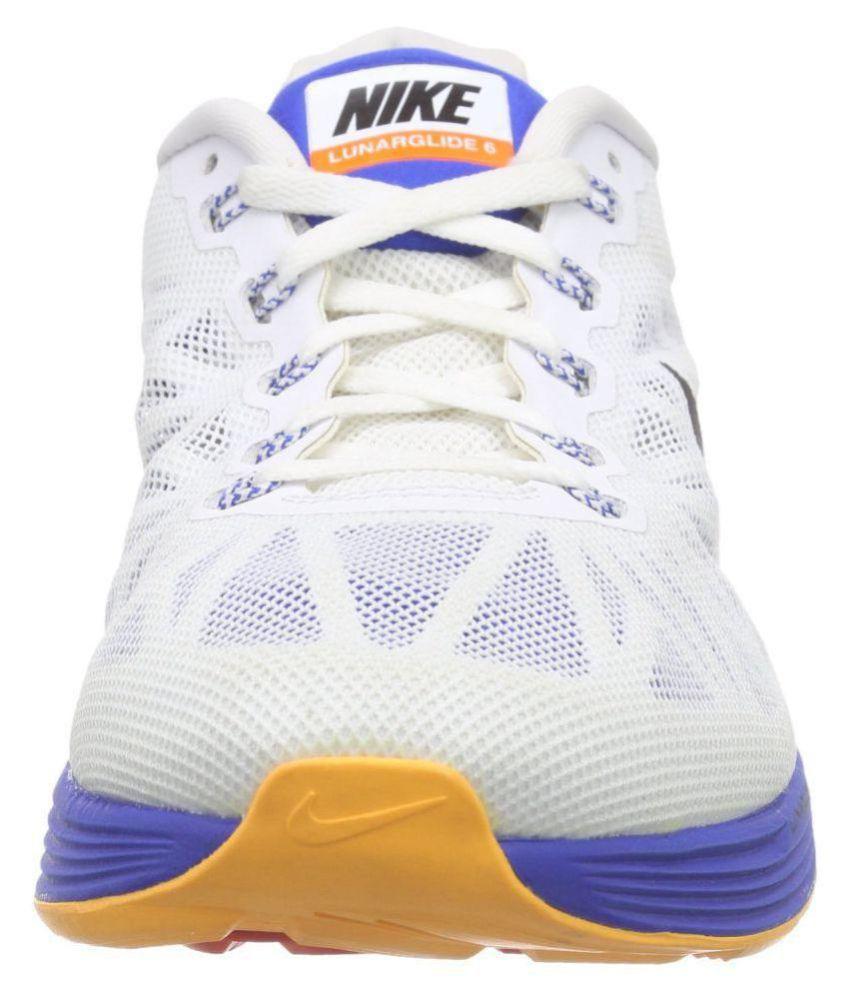 06b4e075629b Nike Lunarglide 6 White Running Shoes - Buy Nike Lunarglide 6 White ...