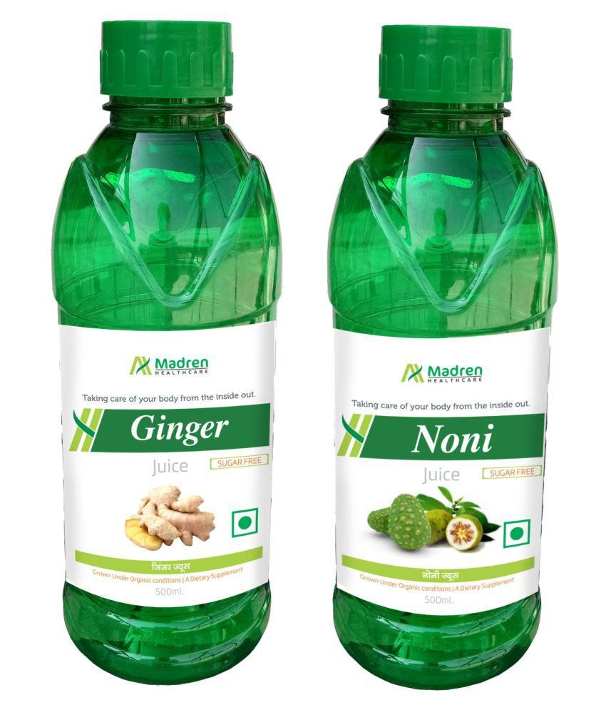 Madren Healthcare Ginger & Noni Juice Health Drink Liquid 500 ml un flavoured