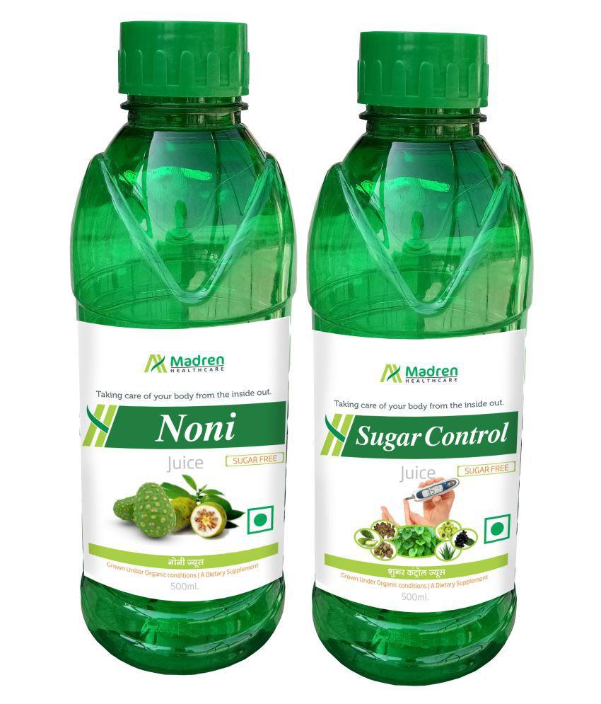 Madren Healthcare Noni & Sugar Care Juice Health Drink Liquid 500 ml un flavoured