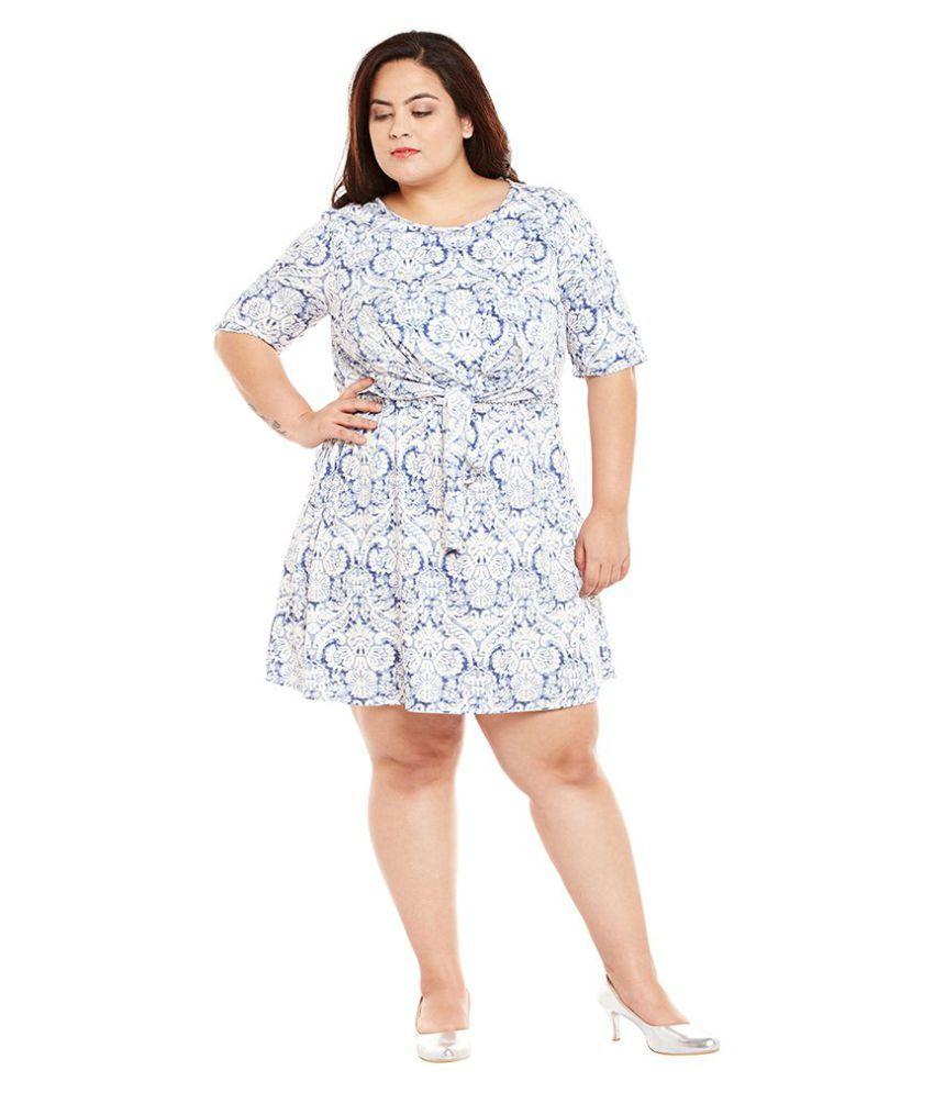 b8cdfac0a14 Oxolloxo Polyester Plus Size Off White Dresses - Buy Oxolloxo ...
