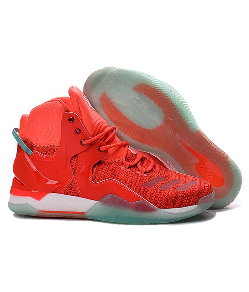 cheap for discount 56c48 b43c8 Adidas D Rose 7 Primeknit Red Basketball Shoes