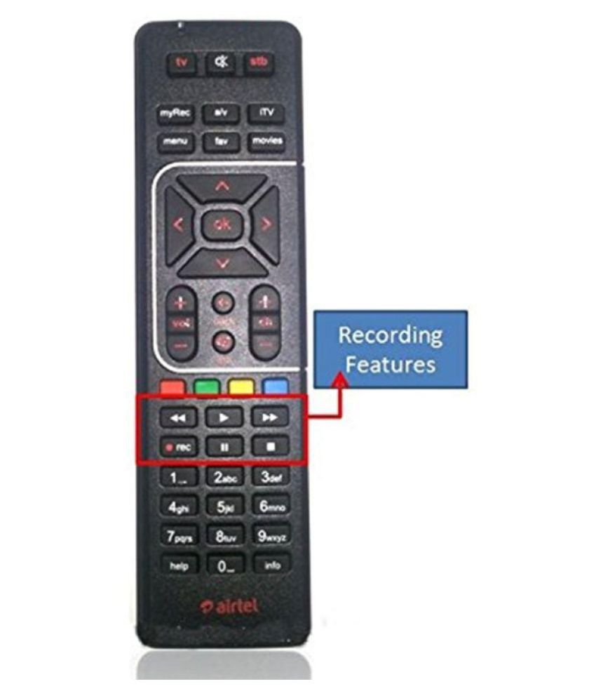 TATA Sky AIRTEL DUPLICATE Copy Remote DTH Remote Compatible with SD and HD  Box