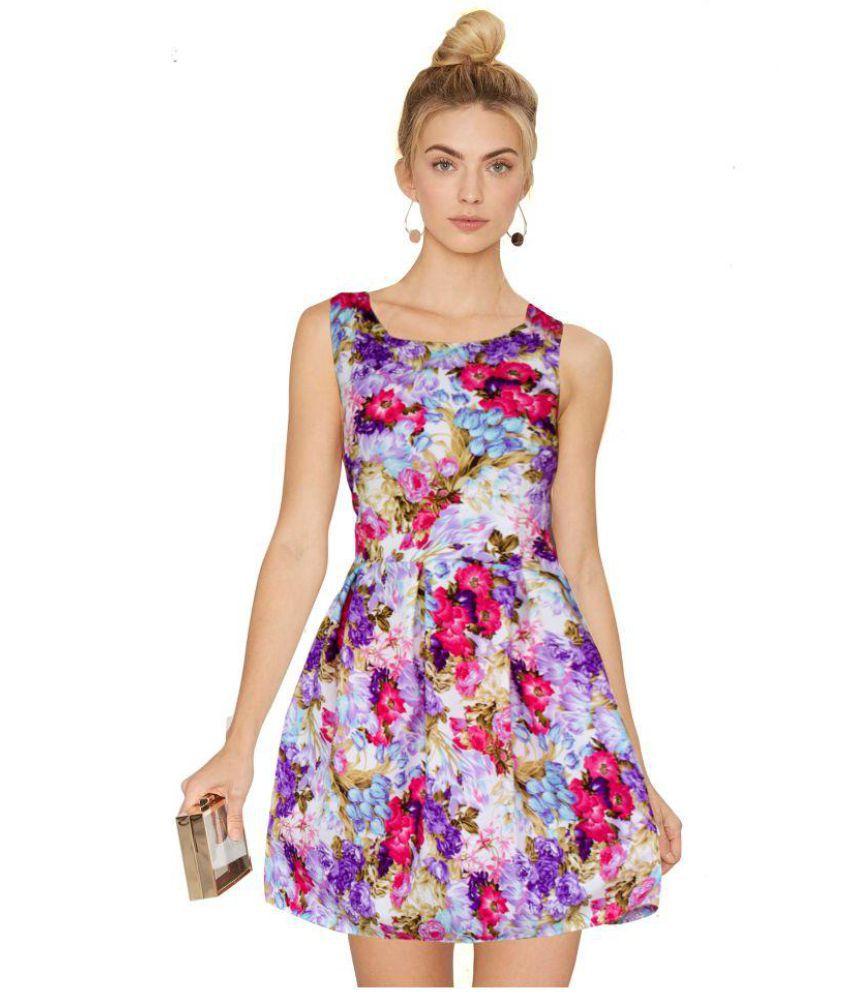 Yogeshwar Creation Georgette Purple Dresses