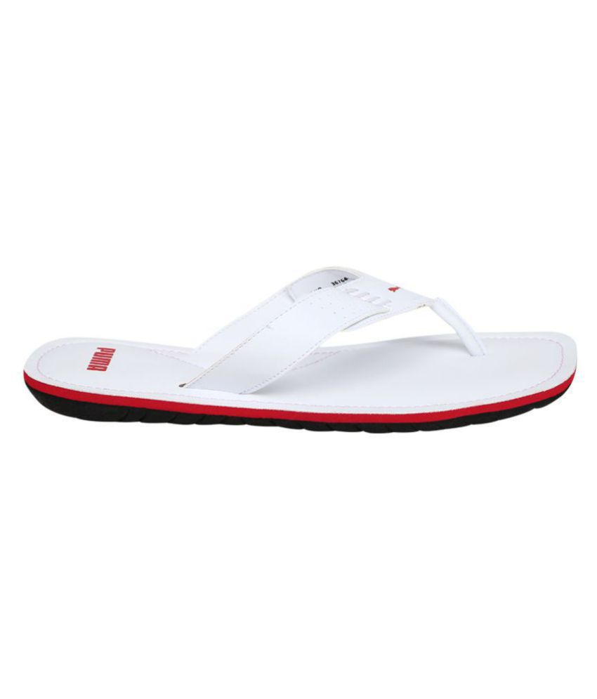 373f167baeb1 Puma Caper NU IDP White Thong Flip Flop Price in India- Buy Puma Caper NU  IDP White Thong Flip Flop Online at Snapdeal