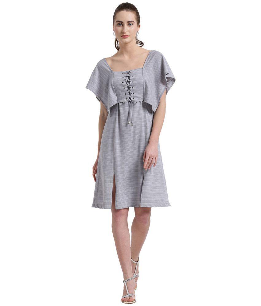 Texco Cotton Grey Dresses
