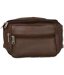 Aspen Leather Brown Waist Bag for Travelling