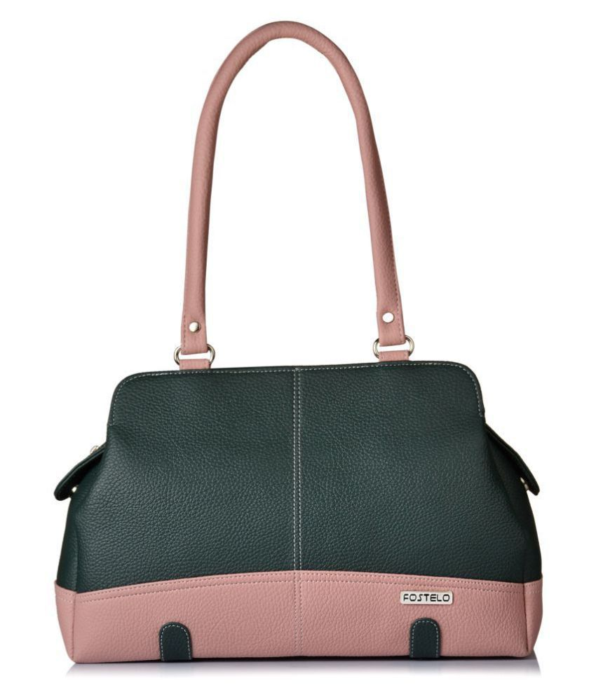 Fostelo Green P.U. Shoulder Bag