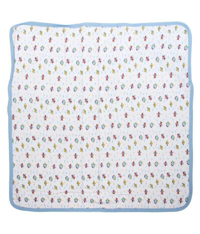 Mee Mee White Cotton Baby Wrap cum blanket ( 28 cm × 1 cm - 1 pcs)